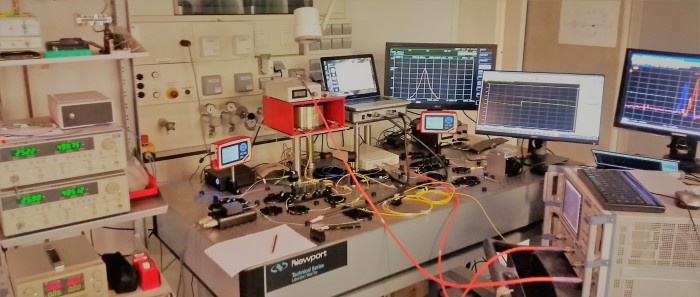 Brillouin nanophotonics setup